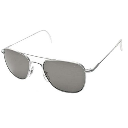 01cc0a49780cf American Optical - Original Pilot Wire Spatula 52 Matte Chrome TCP Polarized  32175 - Walmart.com