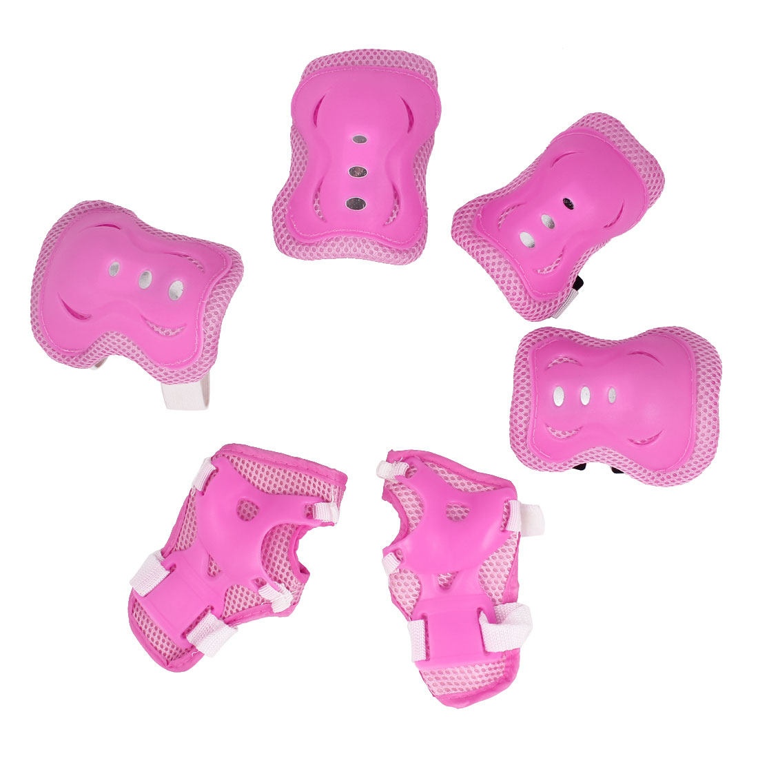 Unique Bargains Skating Skateboard Sports Gear Palm Wrist Guard Elbow Knee Pads For Gilds Children by Unique-Bargains