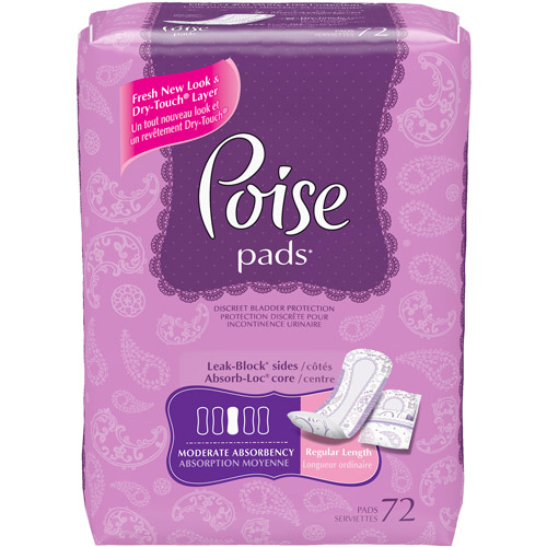 Poise Pads Moderate 72ct