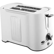 Electric Toaster 2-Slice,Household Multi-Function Toaster with 6 Browning Settings, Defrost, Reheat and Cancel Functions,Stainless,Removable Crumb Tray (Color : White)