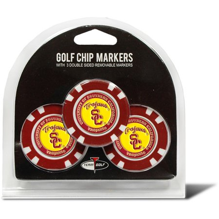 Team Golf NCAA Southern California 3 Pack Golf Chip Ball (Best Golf In Southern California)