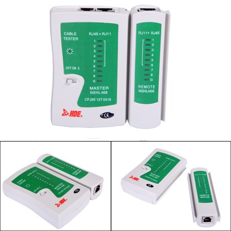 Telephone Test Set - HDE Network Cable Tester for Lan Phone RJ45 RJ11 RJ12 Cat5 Cat6 UTP Wire Test Tool …