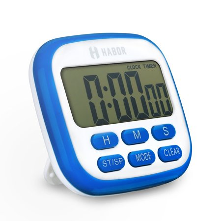 Habor Digital Kitchen Timer Electric Fitness Timers Lcd Display Digital Clock Second Timer