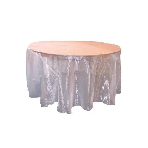 LA Linen Organza Sheer Round Tablecloth by LA Linen