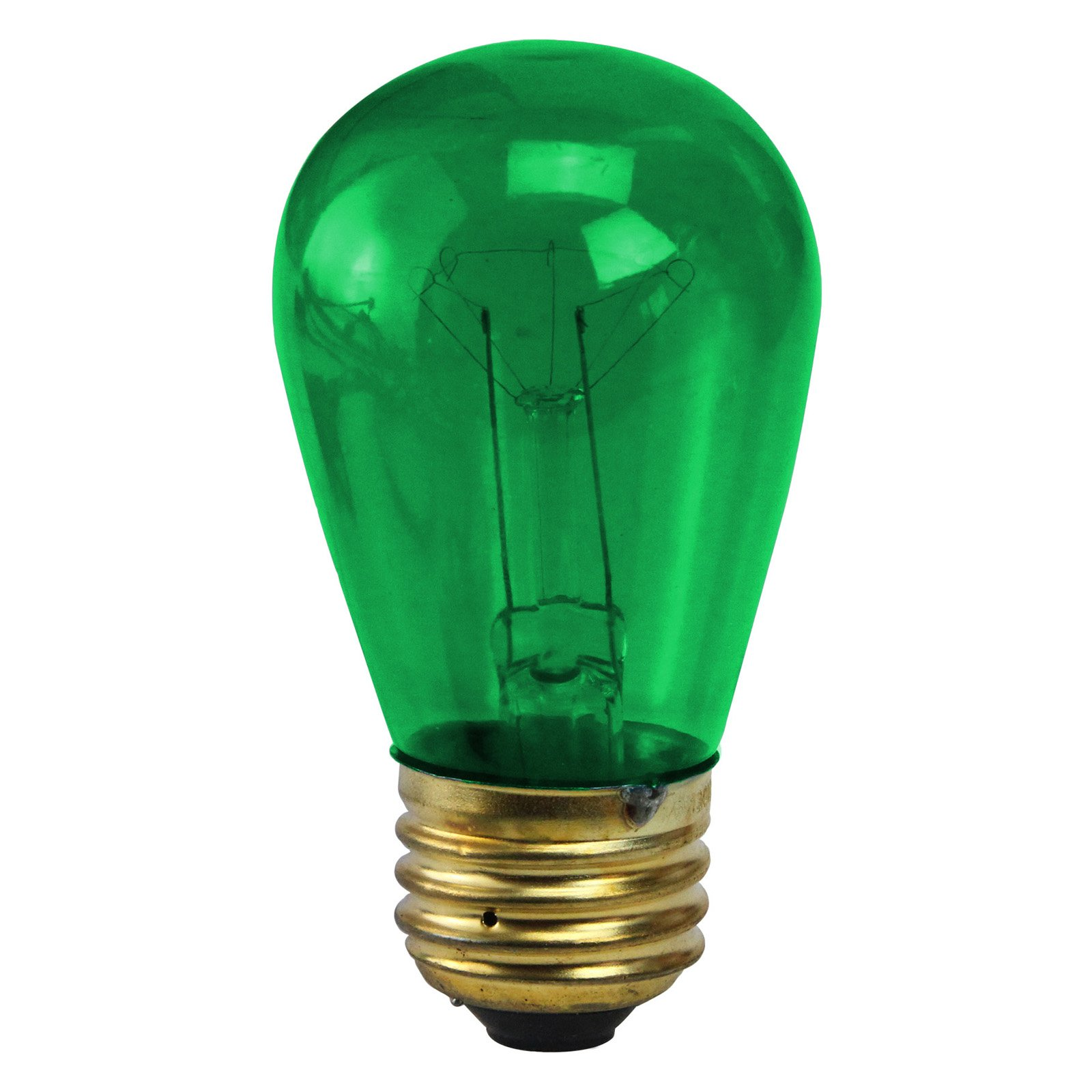 Northlight Incandescent E26 Green Christmas Replacement Bulb - Pack of 25