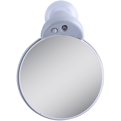FC30L Zadro Travel Dual-Sided LED Spot Mirror with 5x & 10x Magnification