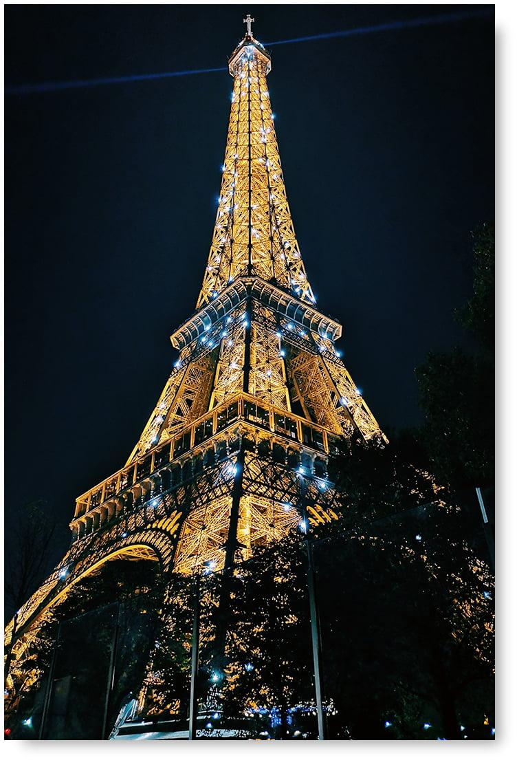 Awkward Styles Paris Modern Poster Art Eiffel Tower Poster Decor Paris Night View Eiffel Tower Unframed Poster Paris City View Printed Artwork Housewarming Decor Gifts Ideas Printed Photo Pictures Walmart Com
