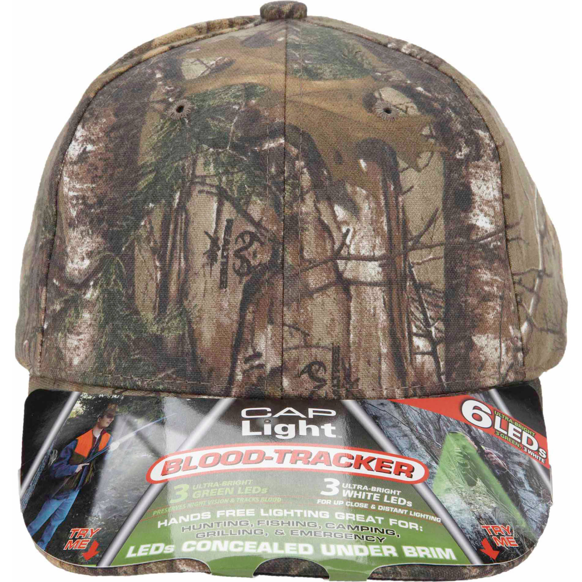 Realtree Xtra Camo 6-LED Blood Tracker Cap Light