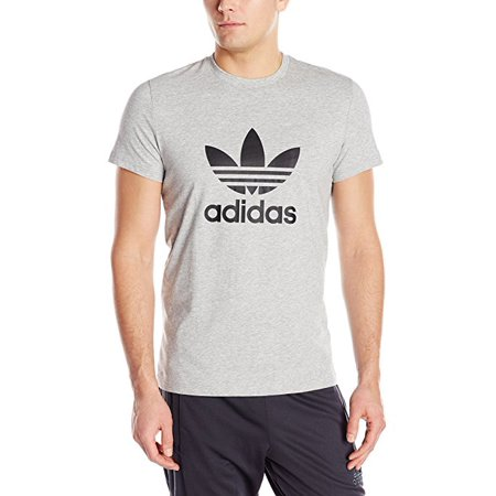 Adidas Originals Game - adidas Originals Men's Trefoil Tee  GREY Heather  (SMALL)   W19