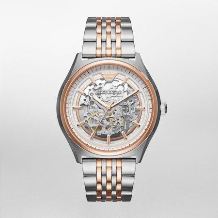 Mens Multifunction Automatic Skeleton Watch (Emporio Armani Men's Meccanico Skeleton Dial Automatic Luxury Watch)