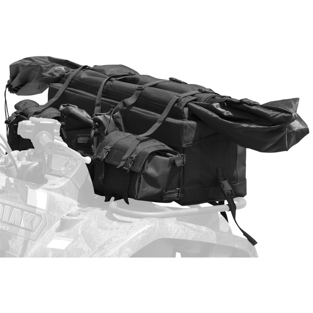 """Front ATV Cargo Rack Gear Bag with 57"""" Soft Rifle Case"""
