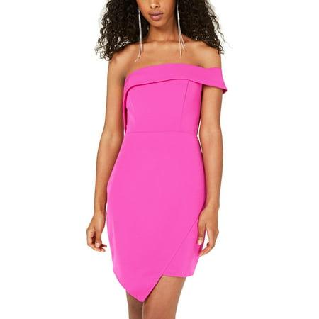 City Studio Womens Juniors Asymmetric Hem Sheath Cocktail Dress