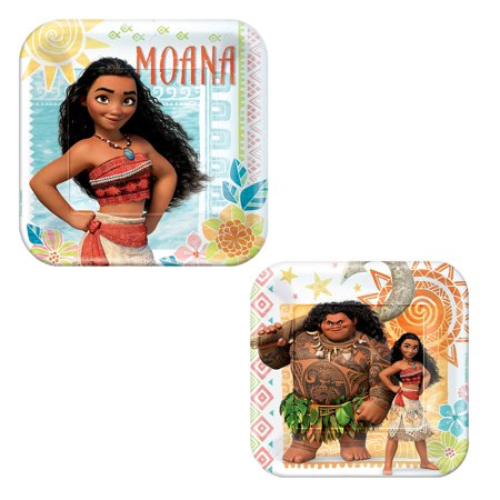 Magic Birthday Supplies (Disney Moana and Maui Birthday Party 7 and 9 Inch Plates 32 Count Party Supply)