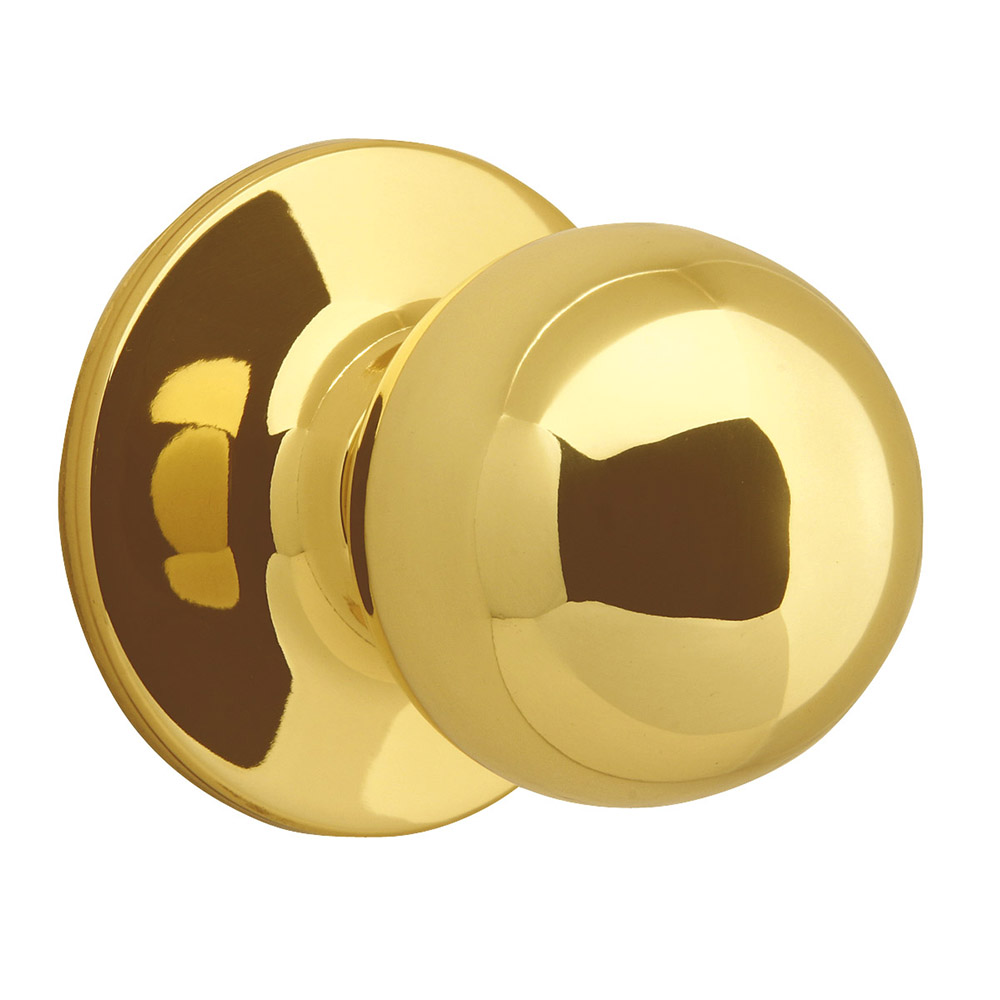 Design House 783191 Ball Dummy Door Knob, Polished Brass