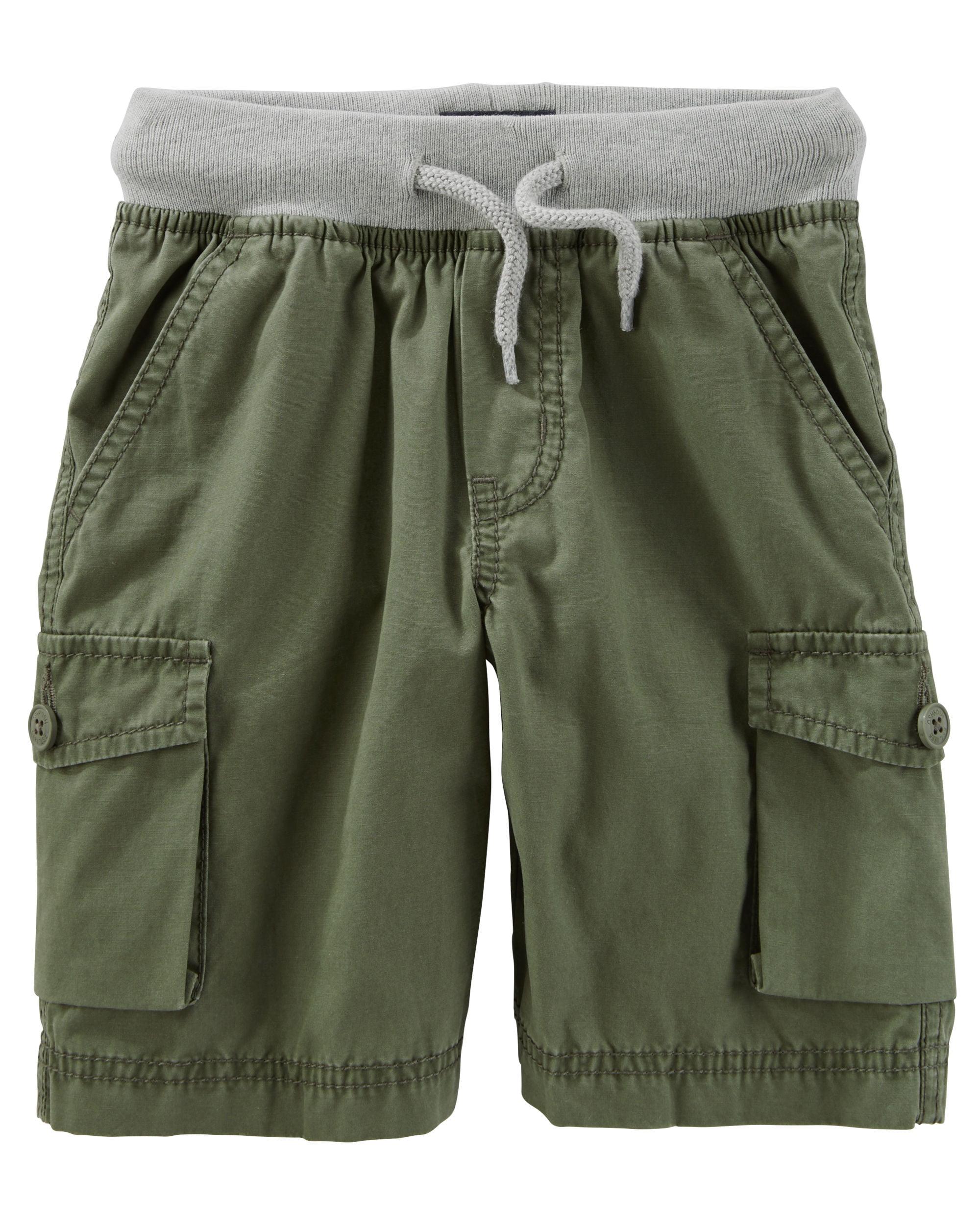 OshKosh B'gosh Baby Boys' Pull-On Cargo Shorts, 9 Months