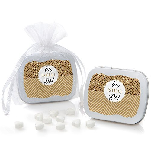 We Still Do - 50th Wedding Anniversary - Mint Tin Party Favors (set of 12)