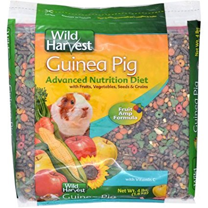 Super Premium Guinea Pig Blend With Ester C, 4 lb., Pack of 2 (8 lbs Total), Watch your little pets go to town on this delicious food By Wild Harvest