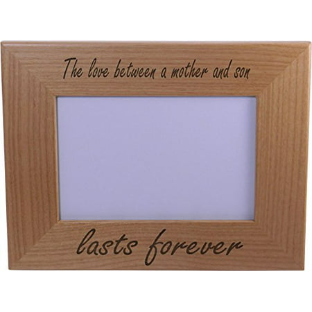 The Love Between A Mother And Son Lasts Forever Wood Picture Frame