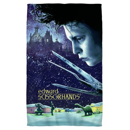 Edward Scissorhands Movie Poster Bath Towel White 27x52