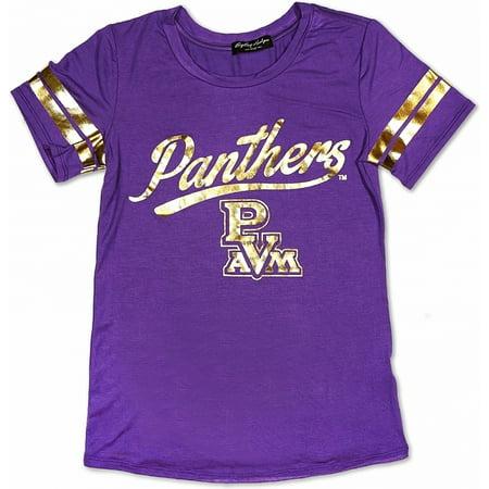 Big Boy Prairie View A&M Panthers S2 Ladies Jersey Tee [Purple - S]