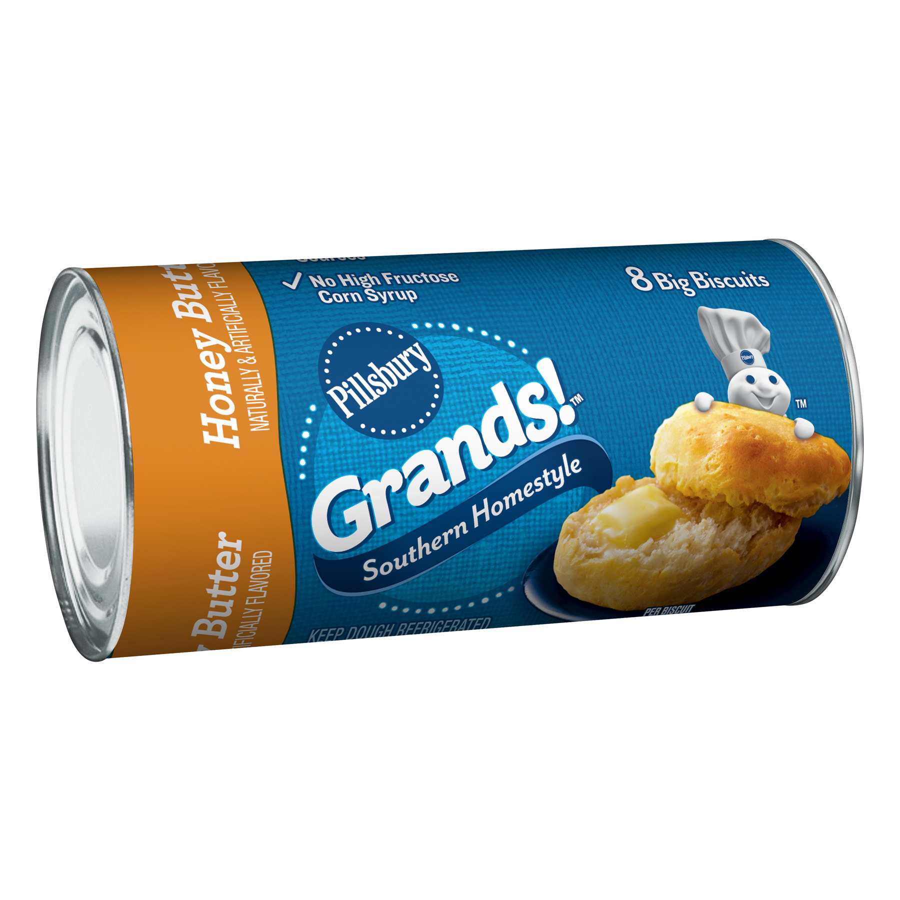 Pillsbury, Grands!, Southern Homestyle Honey Butter Biscuits, 8 Count