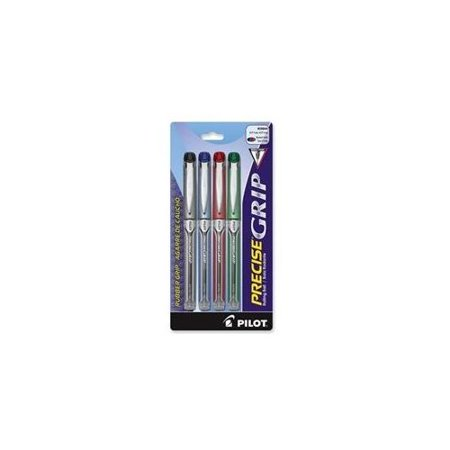 Pilot Precise Grip Rolling Ball Pen - Extra Fine Pen Point Type - 0.5 Mm Pen Point Size - Assorted Ink - 5 / Pack - Assorted Types
