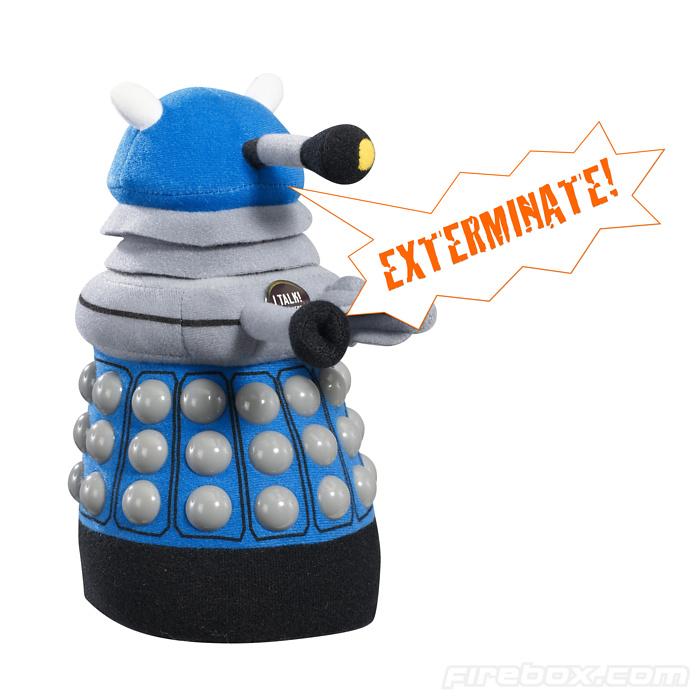 Doctor Who Medium Talking Plush: Blue Dalek