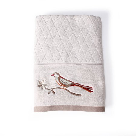 Better Homes And Gardens Song Bird Jacquard Bath Towel Collection