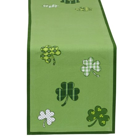 """DII Lucky Day Kitchen Table Runner, 54""""x14"""", 100% Cotton"""