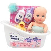 Baby Magic Rub a Dub Fun in the Tub 9 Piece Play Set with Play Baby Doll