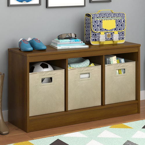 Altra Furniture Leo Wood Storage Entryway Bench