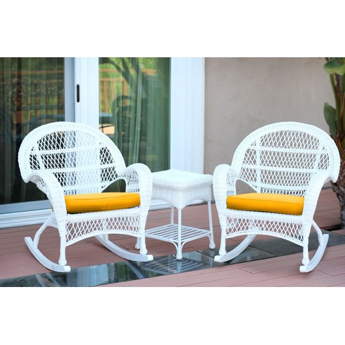 August Grove Mangum 3 Piece Conversation Set with Cushions