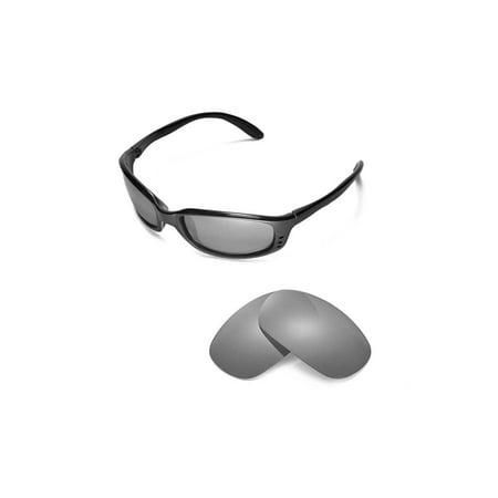 dcfbac1578ced Walleva - Walleva Titanium Polarized Replacement Lenses for Costa Del Mar  Brine Sunglasses - Walmart.com