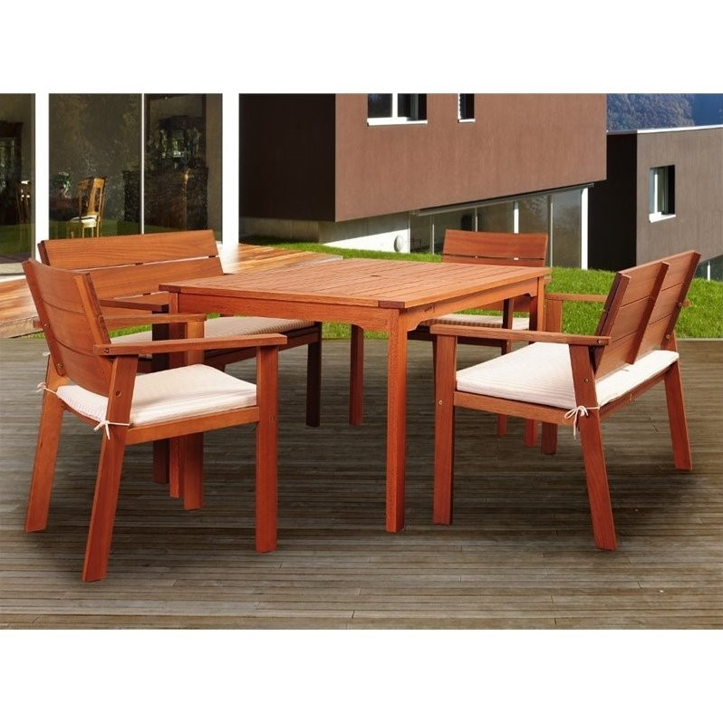 Nelson 5-Pc Dining Set with Cushion