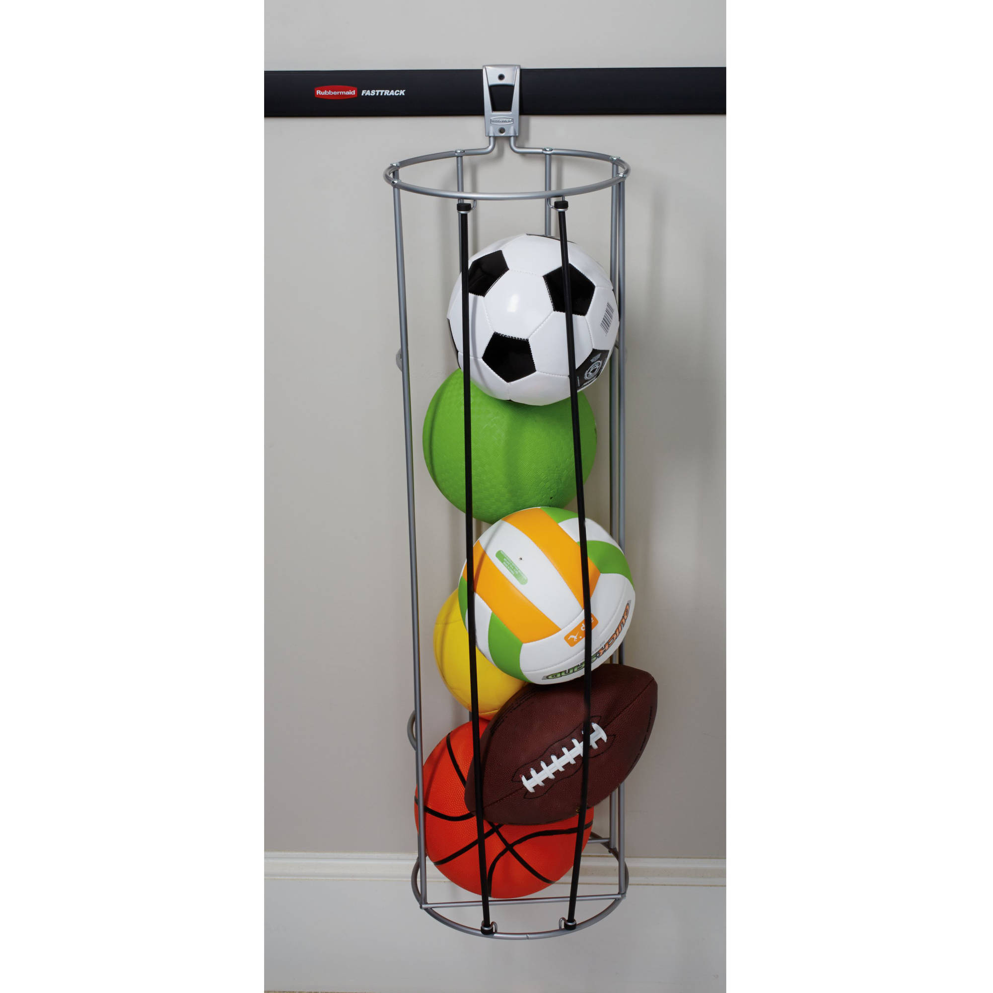 Rubbermaid Home Prod Dorfile 1784462 FastTrack Vertical Ball Rack    Walmart.com