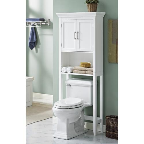 WyndenHall  Hayes White Bathroom Space Saver Cabinet