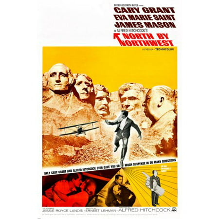 Alfred Hitchcock'S North By Northwest Movie Poster Cary Grant New 24X36