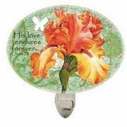 Night Light-Orange Iris/His Love Endures Forever (4.5 x 3.375)