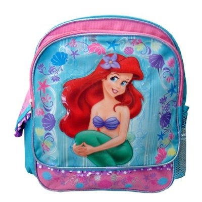 Small Backpack - Disney - Little Mermaid Ariel Girls New School Bag 614393