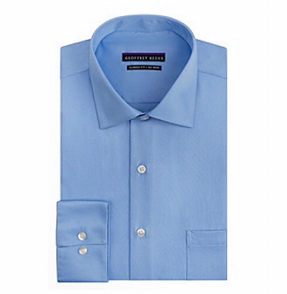 Geoffrey Beene NEW Blue Mens Size 17 Button Front Tall Dr...
