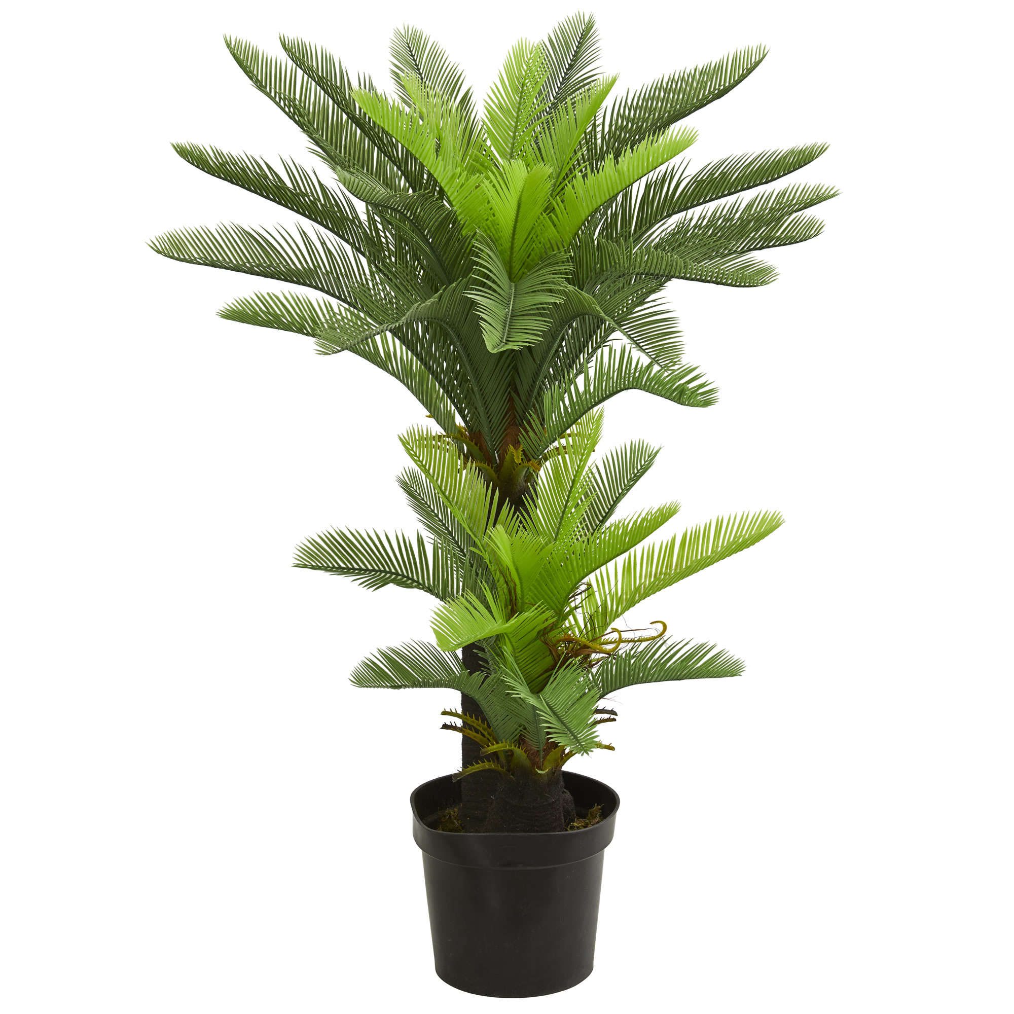 Nearly Natural 4.5' Double Potted Cycas Artificial Tree