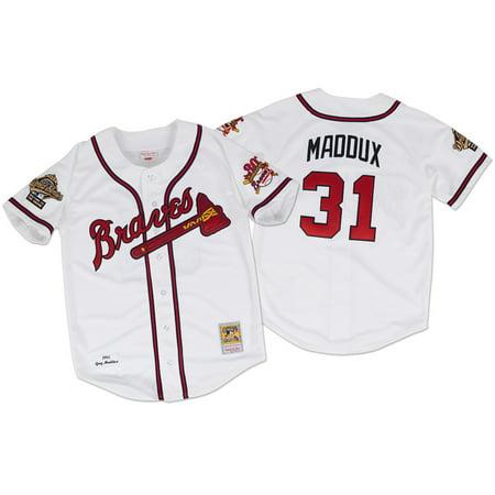 Greg Maddux Atlanta Braves Mitchell & Ness Authentic MLB 1995 Button Up Jersey by