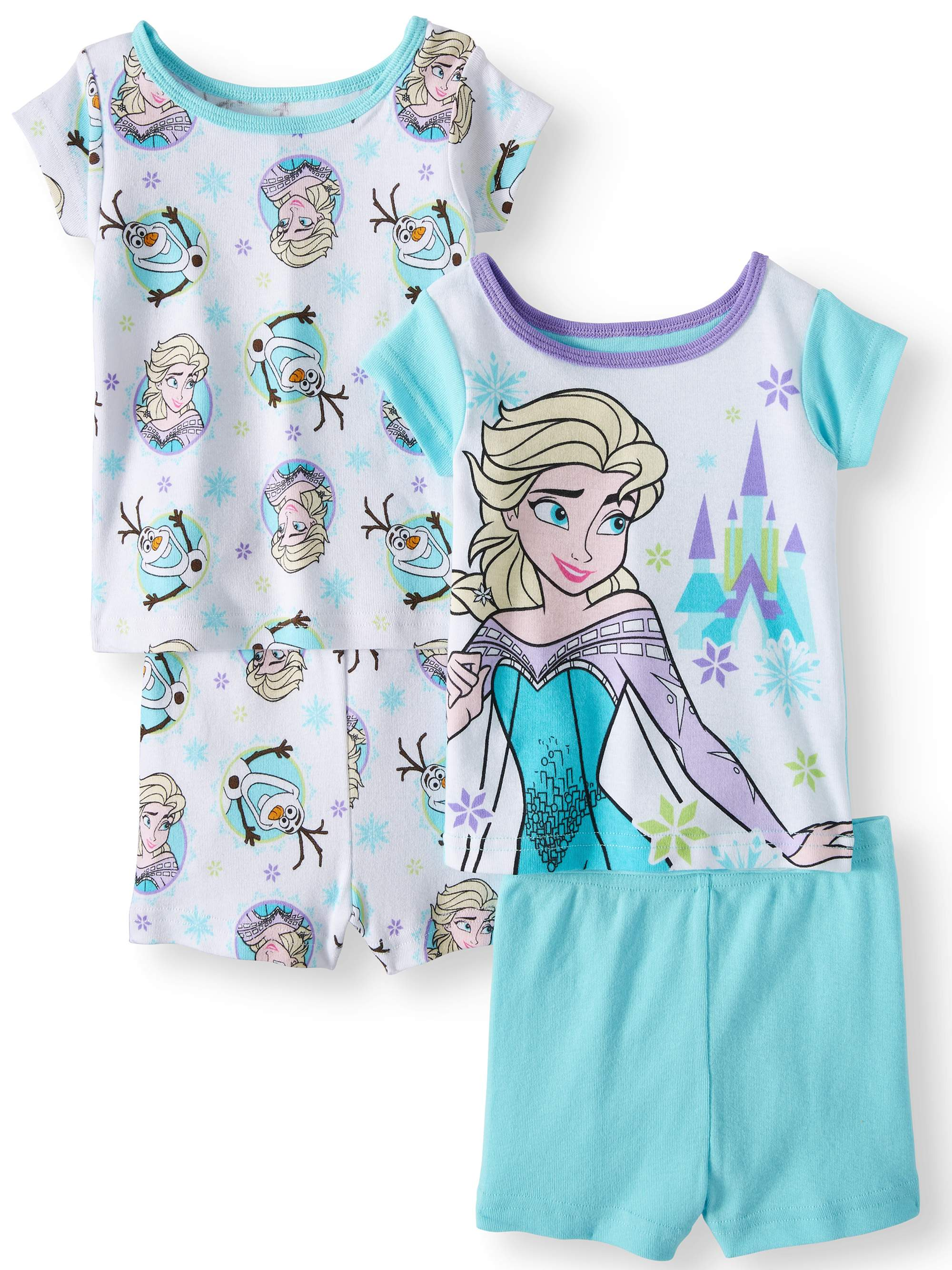 Disney Frozen Cotton 4pc Sleep Set (Baby Girls)