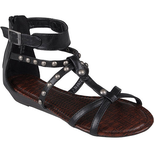 Brinley Co. Womens T-strap Gladiator Sandals