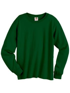 Fruit of the Loom Boys 6-20 HD Cotton Long Sleeve T-Shirt