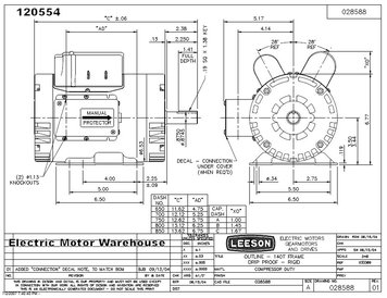 Leeson 5 Hp Motor Single Phase Wiring Diagram
