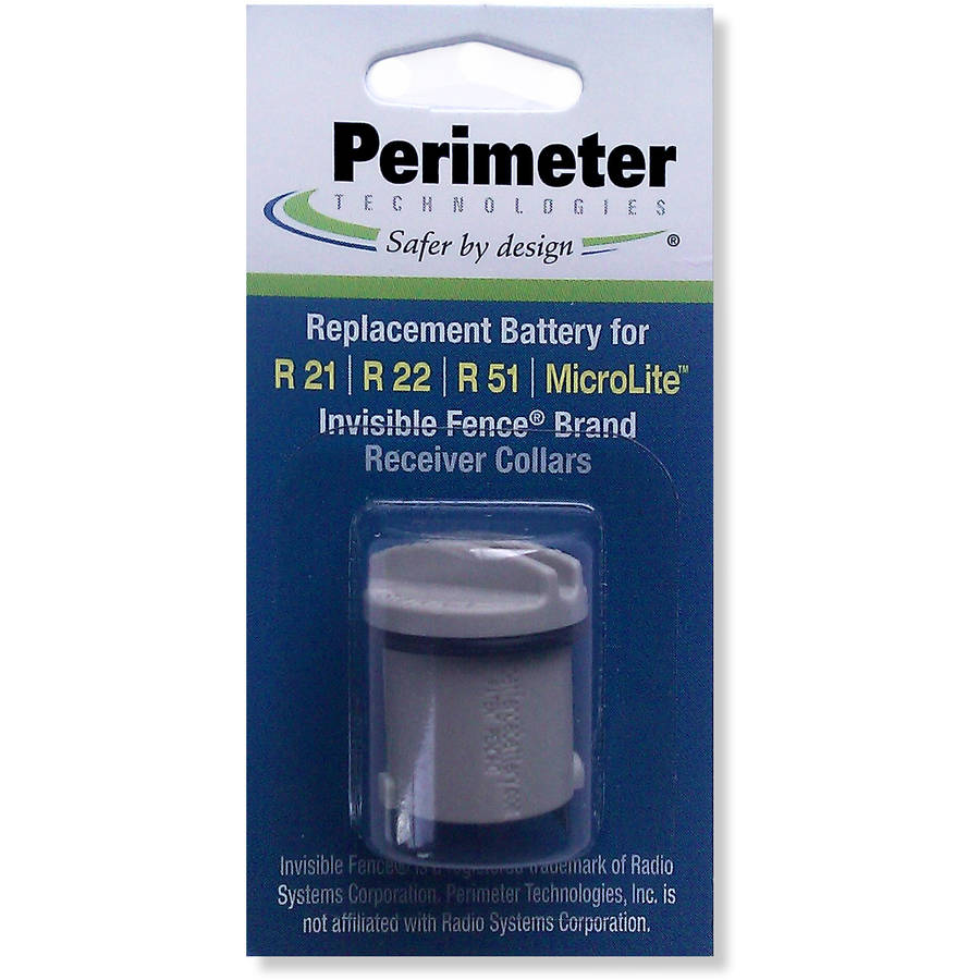 Perimeter Technologies Invisible Fence Compatible R21 and R51 Dog Collar Battery, Gray