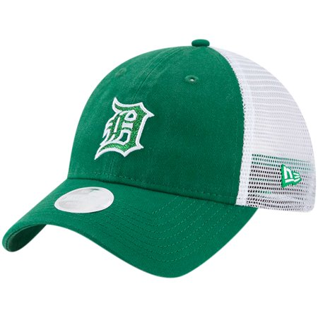 Detroit Tigers New Era Women's Trucker Shine St. Patrick's Day 9TWENTY Adjustable Hat - Green - - Green Tiger