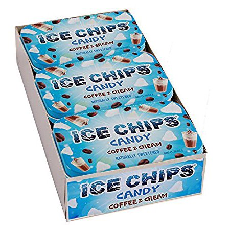 ICE CHIPS Xylitol Candy, Coffee & Cream (6 Tins)