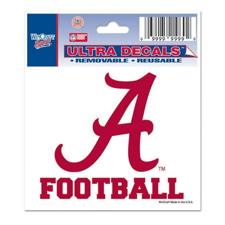 Ncaa   045  Alabama Crimson Tide 3X4 Football Decal